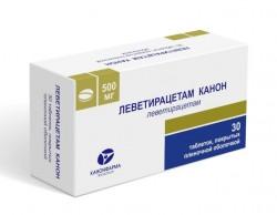Леветирацетам Канон, табл. п/о пленочной 500 мг №30