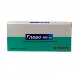 Глево, табл. п/о пленочной 500 мг №5