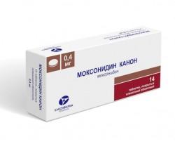 Моксонидин Канон, табл. п/о пленочной 0.4 мг №14